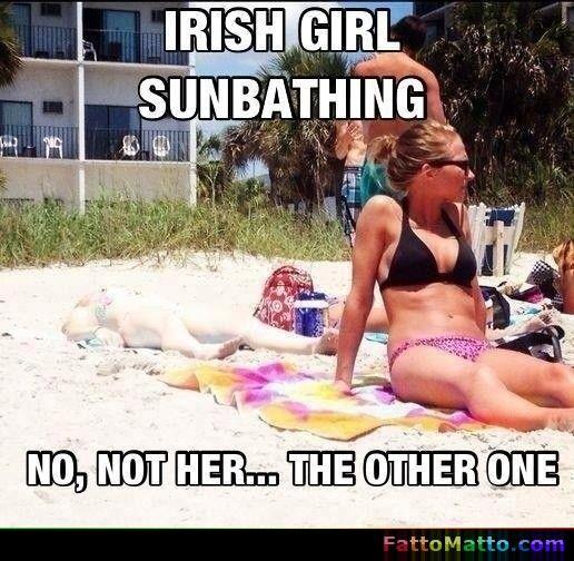 Ragazza irlandese al sole, non quella, l'altra! - via FattoMatto.com