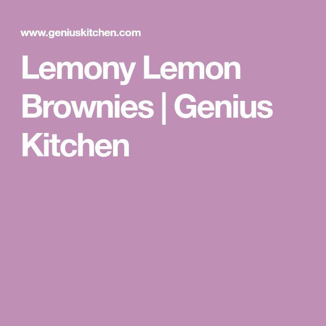 Lemony Lemon Brownies | Genius Kitchen