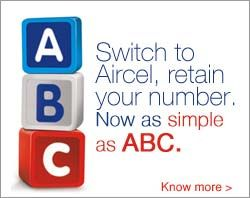 Switch to a new world of possibilities with Aircel and retain your mobile number.