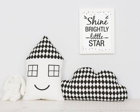Baby Pillow SET Scandinavian style Nursery decor Cloud by Emodi