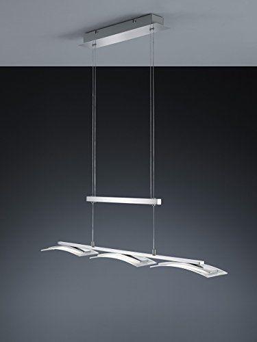 Trio Leuchten LED-JoJo-Pendelleuchte Stakkato, nickel matt, Glas satiniert / klar 377310307: Amazon.de: Beleuchtung