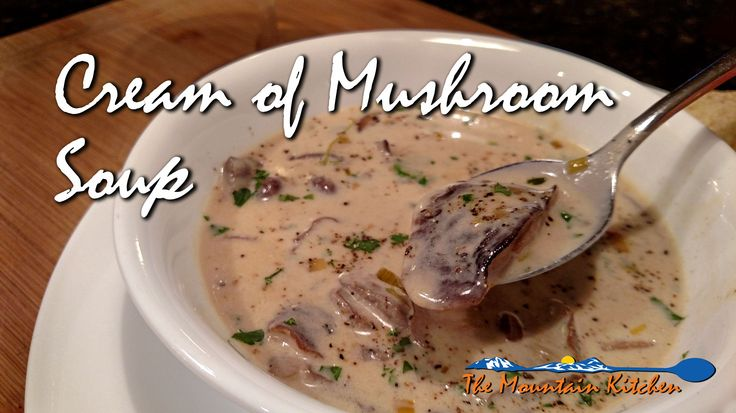 this rich smooth and creamy soup is blended with mushrooms and leeks ...