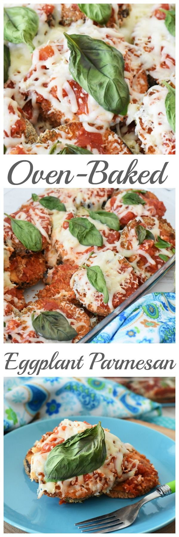 Make this flavorful Oven Baked Eggplant Parmesan for dinner. Your family will love the recipe, and you'll love how easy clean up is afterwards.