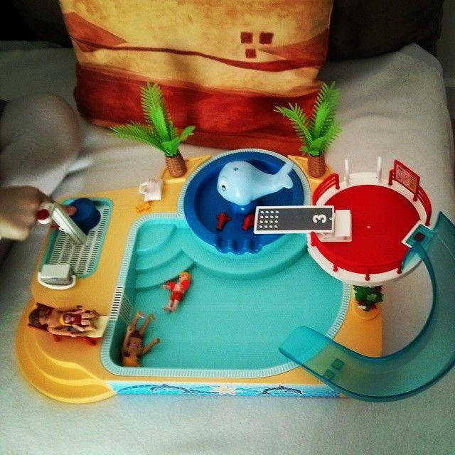 Gros succès pour la piscine #playmobil qui est canon
