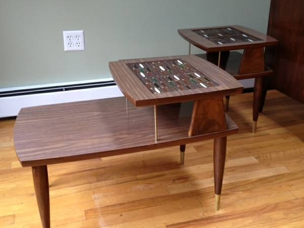 Washington DC: Funky Pair Of Midcentury Step/End Tables $125   Http:/
