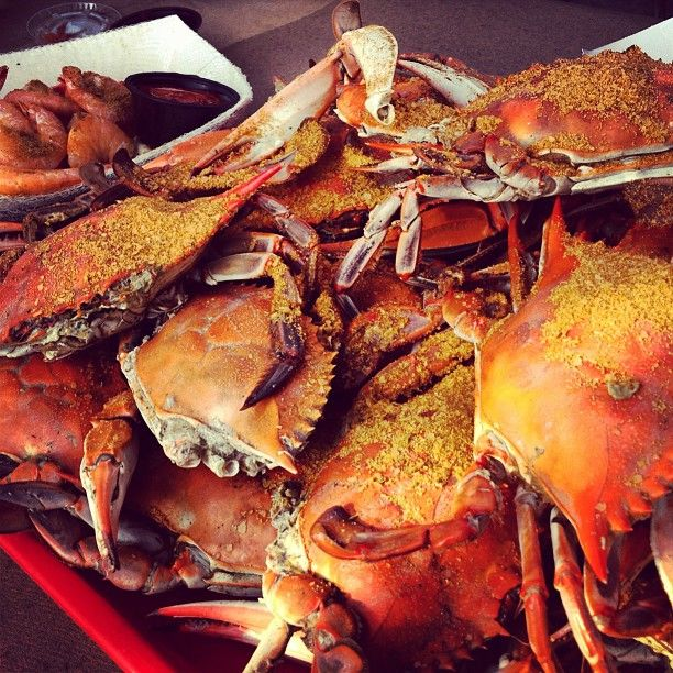MMMM who is ready for some freshly caught Maryland blue crabs? Our Delmarva Crab Dip, Pan-Seared Crabcake Sandwich, and Eastern Shore Crabcakes should give you that crabby fix!