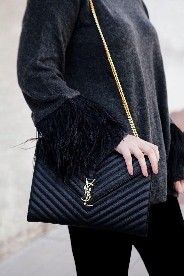 40ce76c8c03 Festive Feathers | My Style | Ysl monogram bag, Ysl crossbody bag ...