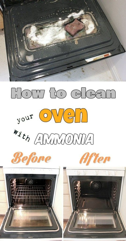 How to clean your oven with ammonia.