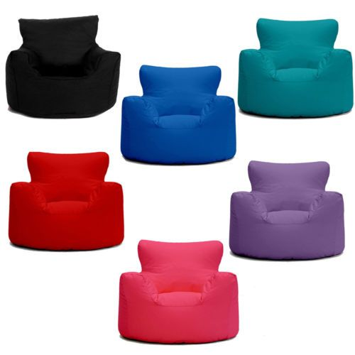 Plain Bean Bag Chairs For Kids Purple Cotton Drill Inside Design Decorating
