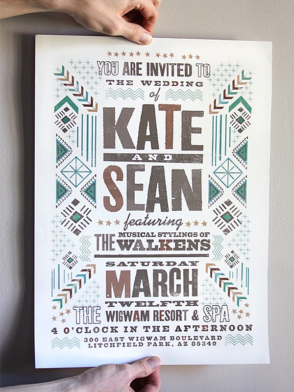 Custom (From Scratch) Poster Design. That's actually a really dope wedding poster