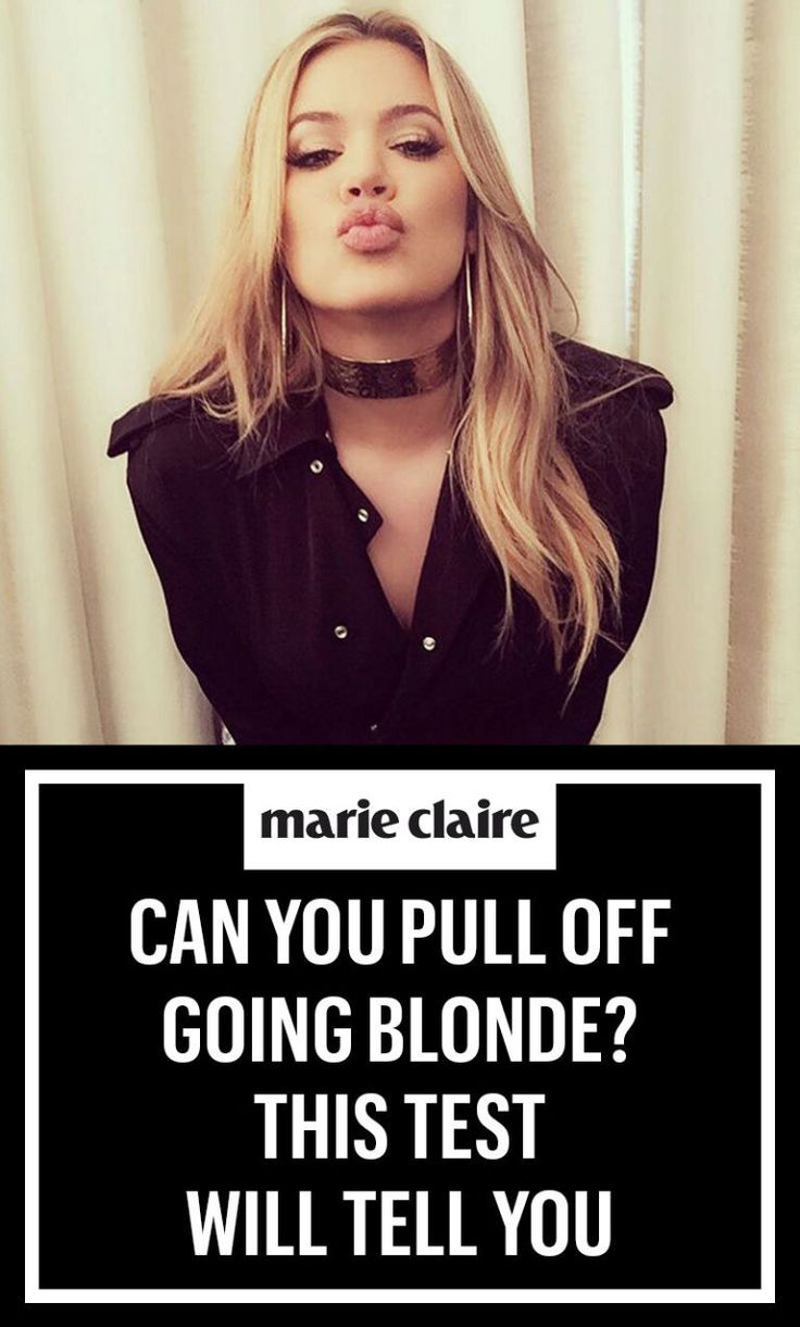 Can You Pull Off Going Blonde? This Test Will Tell You