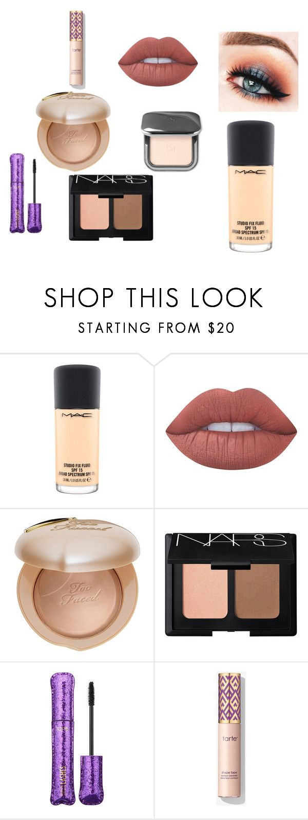 """""""Untitled #5"""" by vanessa-blomerus on Polyvore featuring MAC Cosmetics, Lime Crime, Too Faced Cosmetics, NARS Cosmetics and tarte"""