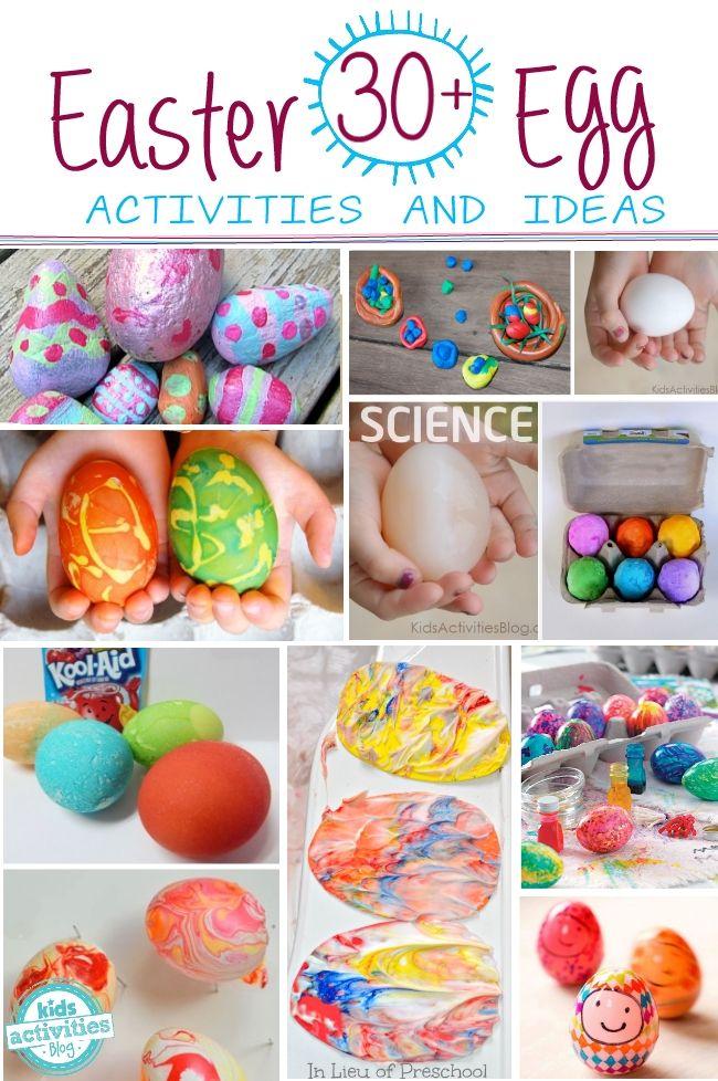 Easter Egg Roundup - 30 Great ideas of ways to decorate, play with and craft with eggs!!  Perfect for Kids.