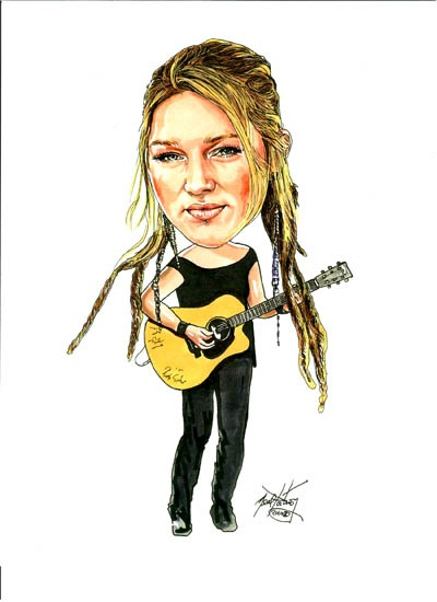 "This is a ""Portrait Caricature"" I did of American Idol runner-up Crystal Bowersox.  I presented her the original art in 2011."