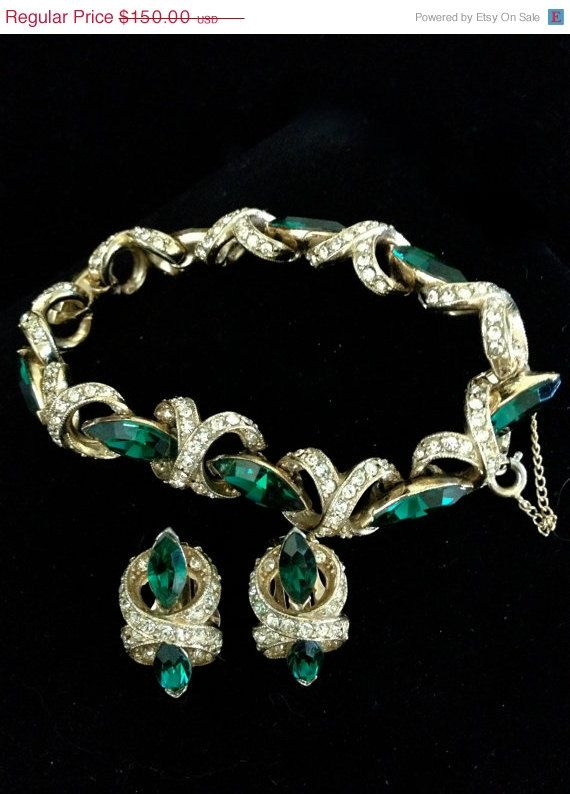 Vintage bogoff bracelet and earring demi by vintageimagine for Bogoff vintage costume jewelry