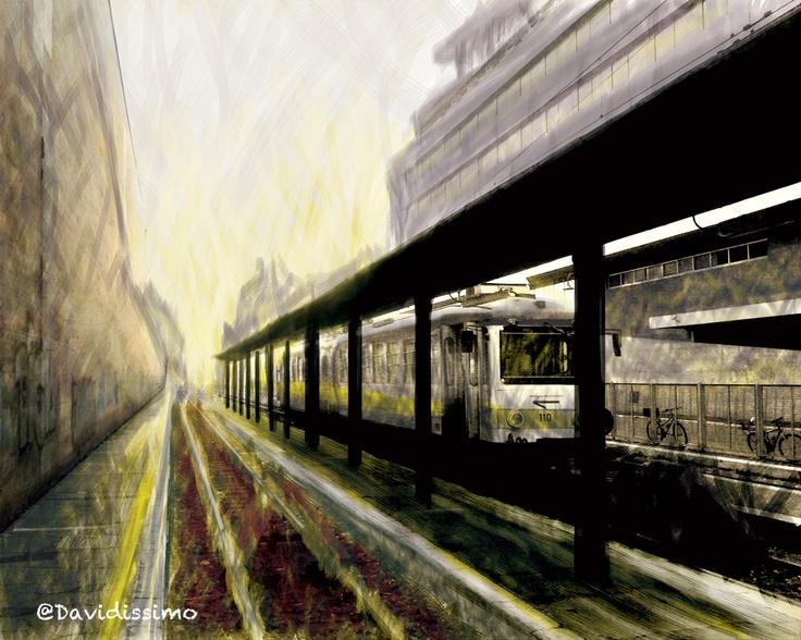 """Dawn on Laziali station - Rome"""