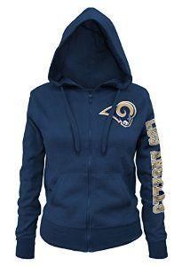 Women's LA Rams Brushed Fleece  Zip Hoodie. YES! #affiliate