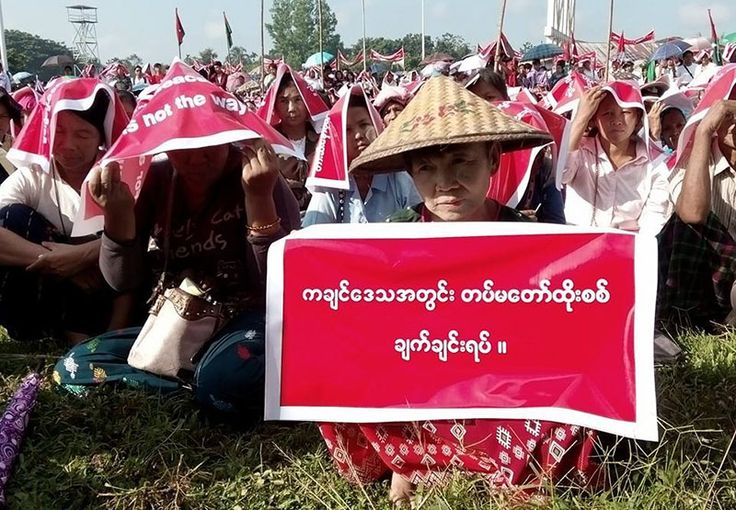 Hundreds join vigil for peace in Kachin State Hundreds of people gathered in the Kachin State capital Myitkyina on Monday to call on the Burmese army to end its offensive against the KIA.