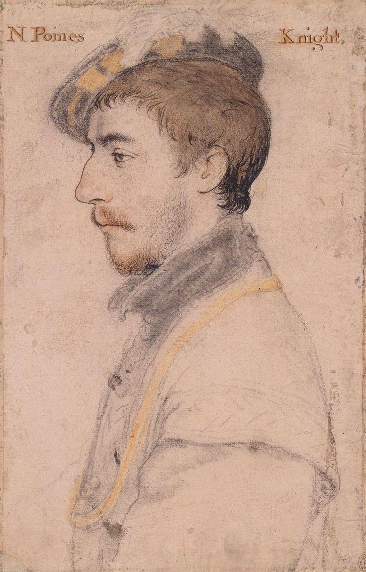 Sir Nicholas Poyntz (c.1510-1556) ~ portrait of a Renaissance era British Knight, by Hans Holbein the Younger