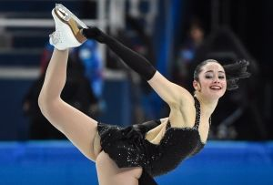 Kaetlyn Osmond performs her short program during the team event in Sochi