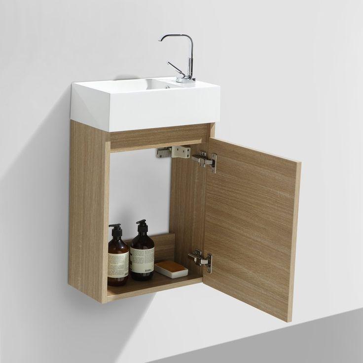 1000 id es sur le th me wc avec lave main sur pinterest - Peindre un meuble en panneau de particules ...