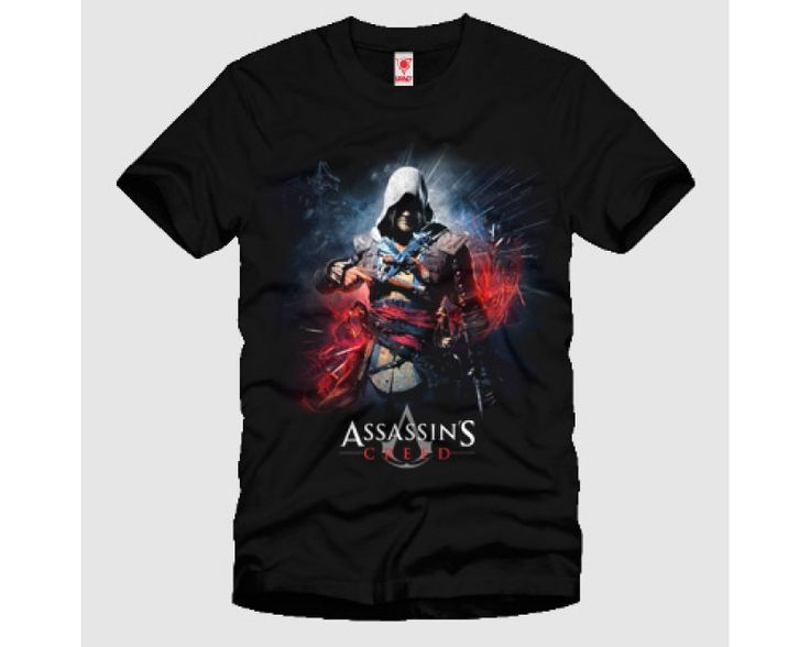 Assasins Creed Black Flag Fire  Tshirt