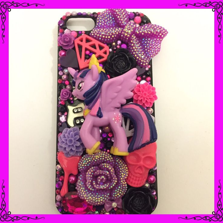 """IPhone 5c """"Pony Pride/Rock N Rebellion"""" variation case featuring Princess Twilight Sparkle! Made for Mr Craftys sister as a gift so couldn't be shown until now :) #craftycharly #newmakes #decoden #barnsley #madeinyorkshire #mylittlepony #mlp #twilightsparkle #customcase #handmade #iphonecase #geek"""