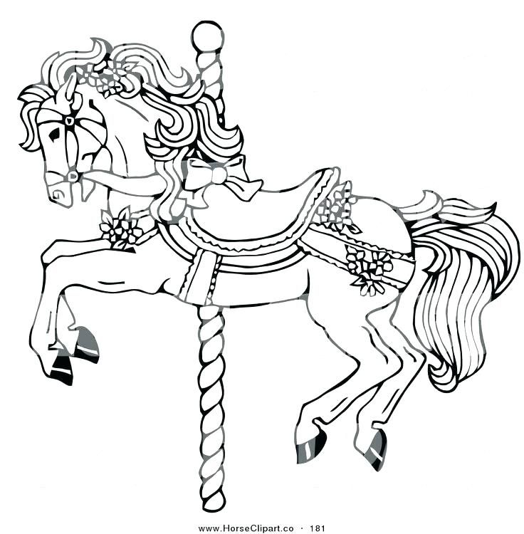 Carousel Horse Coloring Pages Carousel Horse Color Fabulous Carousel Coloring Pages Printable Carouse Horse Coloring Pages Horse Coloring Animal Coloring Pages