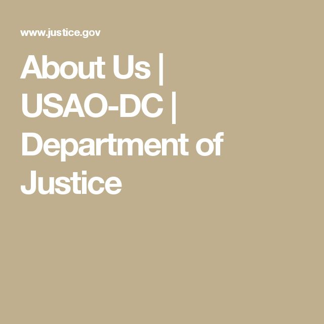 About Us | USAO-DC | Department of Justice