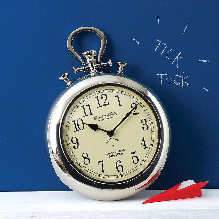 pocket watch wall clock by the orchard | notonthehighstreet.com