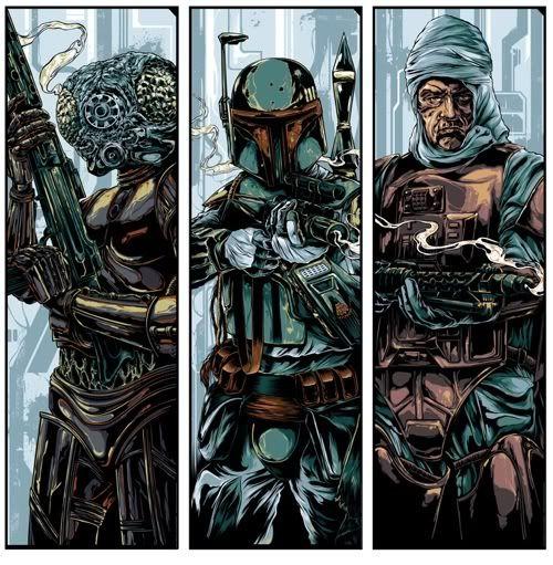 Star Wars Bounty Hunters: Bounty Hunters, Stars War Art, Boba Fett, Star Wars, Ken Taylors, Hunters Waves, Bobafett, War Bounty, Starwars