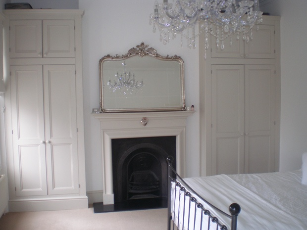Bedrooms apart of original Edwardian. Main bedroom introverted around fireplace. Contrast extrovert nature of extension.