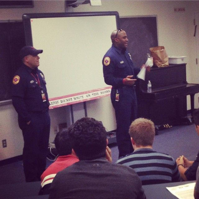 The Albuquerque Fire Department speaking to the CEC's EMT and Cosmetology students who will participate in a Collaborative Mass Casualty Incident Training next week. #StayTuned #Interdepartment #EMT #Paramedics #FireFighters #Training