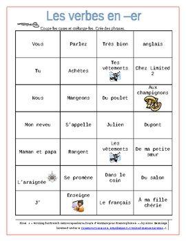56 best french er verb resources images on pinterest french lessons french people and french. Black Bedroom Furniture Sets. Home Design Ideas
