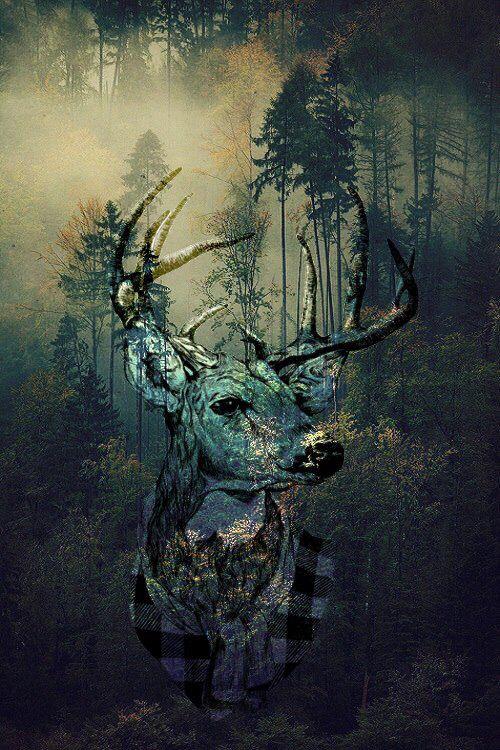 Олень,арт,deer,art