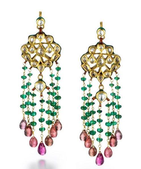 oriental boho earrings gems.