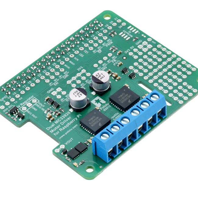 Dual mc33926 motor driver for raspberry pi can drive 2 for Dc motor raspberry pi