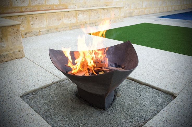 Fire Pits designed and built by Tavoli Designs. ■ If you enjoy sitting around your fireplace during cold months and enjoying the heat, how mobile is the fireplace if you want to go to another room? Imagine having the flexibility to move that fireplace with you anywhere you went. Our Fire Pits are essentially a modern version of a mobile outdoor fireplace!