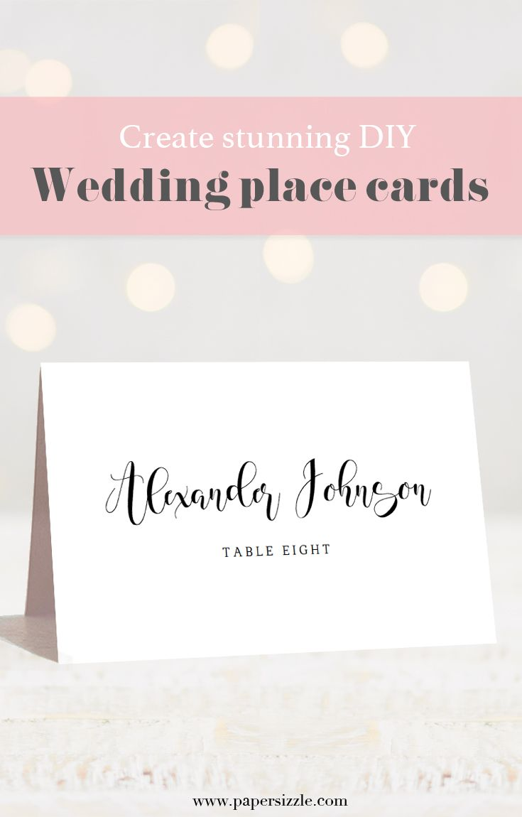 how to make your own place cards for wedding