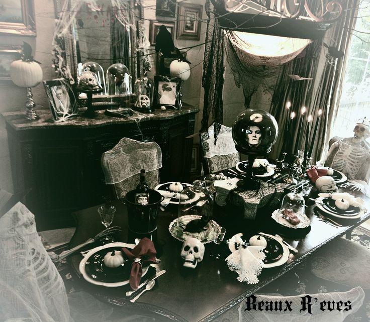 haunted halloween dining room halloween decorations seasonal holiday d cor - Indoor Halloween Decoration Ideas