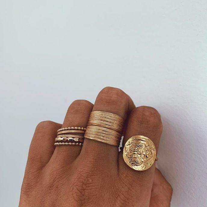 boho gold rings