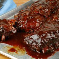 Famous Daves Barbeque sauce/ you can use sugar free syrups replacing the alochol . It is amazing.