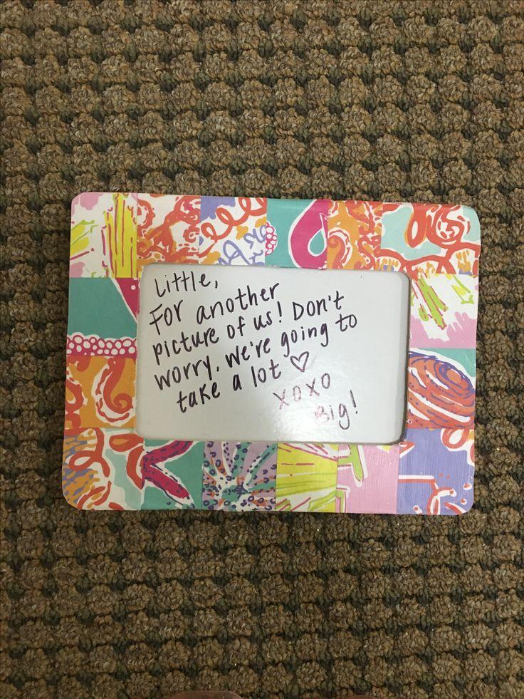 Lily Pulitzer craft / frame / Phi Sigma Sigma / sorority / big little week