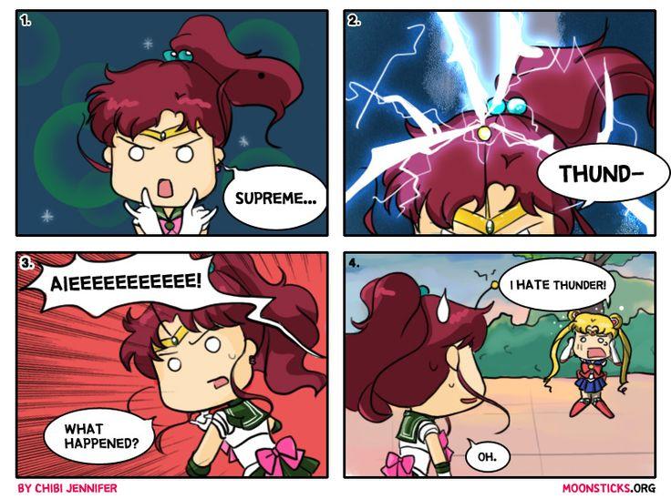 MoonSticks Sailor Moon Comic/Doujin #79 Sailor Jupiter Comes Thundering In, featuring Kino Makoto/Sailor Jupiter and usagi Tsukino/Sailor Moon