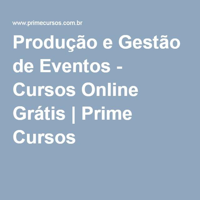 Produção e Gestão de Eventos - Cursos Online Grátis | Prime Cursos