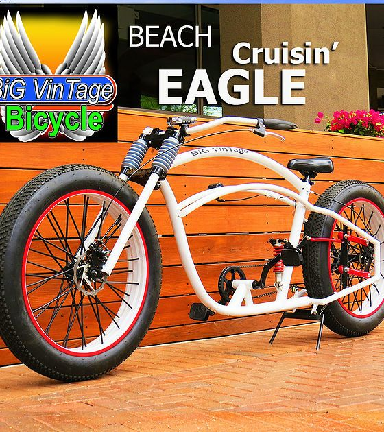 Big Vintage Bicycle Fat Tire Beach Cruiser Fat Bike
