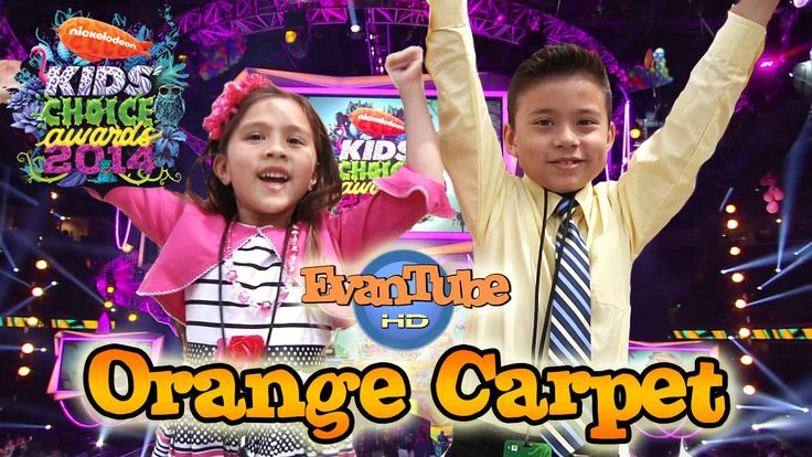 EvanTubeHD goes to the 2014 Nickelodeon KIDS' CHOICE AWARDS - Orange Car...