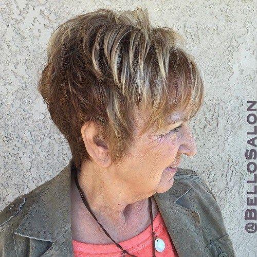 Idées Coupe cheveux Pour Femme  2017 / 2018   1 coiffure courte pour les femmes âgées