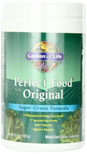 Garden of Life Whole Food Vegetable Supplement - Perfect Food Green Superfood Dietary Powder Original 300g
