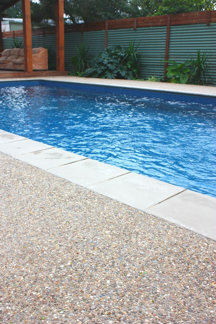 Sealing exposed aggregate pool deck - Murray Exposed Aggregate Mix Poolside Www Mawsons Com